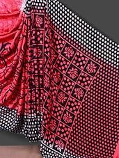 Floral And Geometric Pattern Printed Saree - Jashn