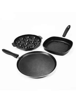 Sumeet Trinity Nonstick Supreme Cookware Set Of Three Pieces