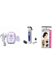 1 Epilator, 1 Charger , 1 Brush:: 1 Trimmer , 1 Charger , 1 Brush , 1 Oil - By