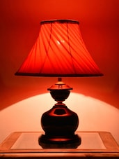 Red Iron Table Lamp - Yashasvi