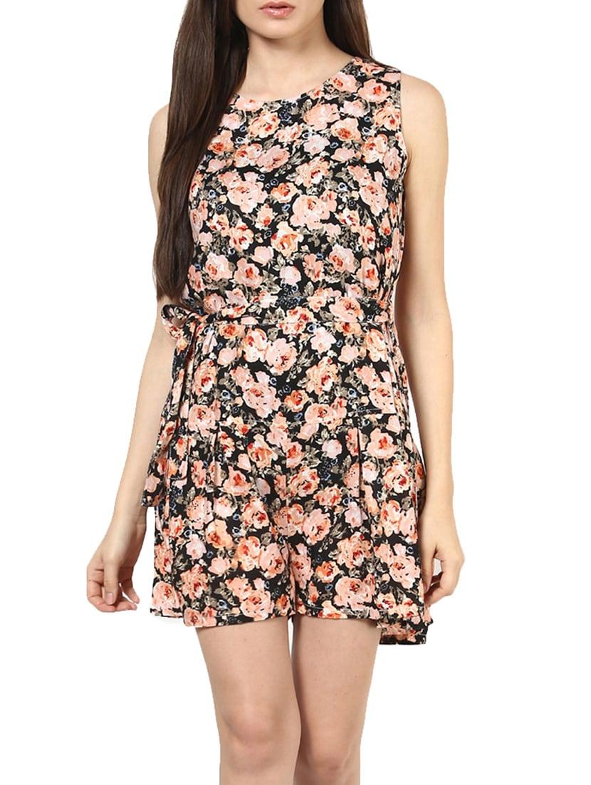 Floral Printed Viscose Jumpsuit - By