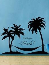 """ Holiday On Beach "" Wall Sticker - Creative Width Design"