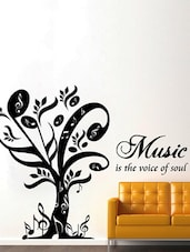 """"""" Music Is The Voice Of Soul """" Wall Sticker - Creative Width Design"""