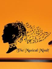 """ The Musical Mind "" Wall Sticker - Creative Width Design"