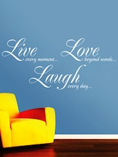 """"""" Live Every … Every Day """" Wall Sticker - Creative Width Design"""