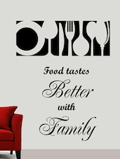 """ Food Tastes … Family "" Wall Sticker - Creative Width Design"
