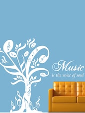 """""""Music Is The Voice Of Soul"""" Vinyl Wall Sticker - Creative Width Design"""