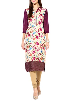 multi  georgette straight kurta