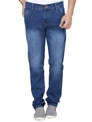 Blue Stretchable Slim Fit Jeans