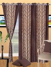 Printed Polyester Eyelet Door Curtain - Handloomdaddy
