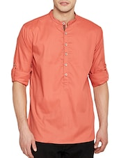 pink cotton short  kurta -  online shopping for Kurtas