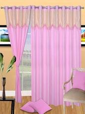 Polyester Lace Design Eyelet Door Curtain - Handloomdaddy