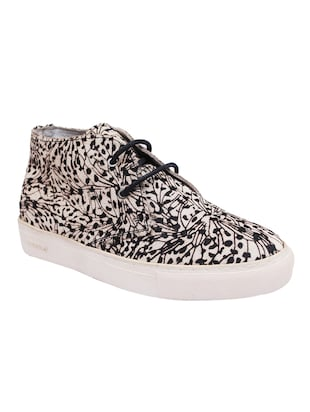 white, black leather laceup sneakers