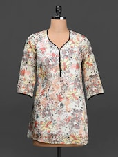 Floral Print Poly-georgette Top - Ayaany