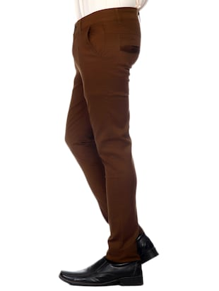 Stretchable Regular Fit Chinos - 10685871 - Standard Image - 2