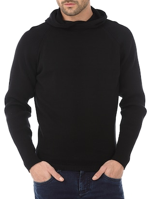 black cotton sweatshirt
