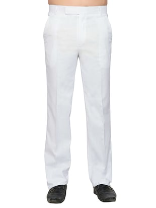 white cotton formal trouser