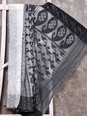 Black And White Cotton Silk Saree - Creation