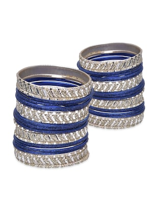 dark blue metal alloy bangle