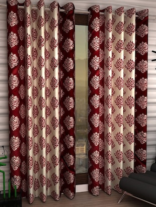 K Décor Set of 2 Beautiful Polyester Windows Curtains
