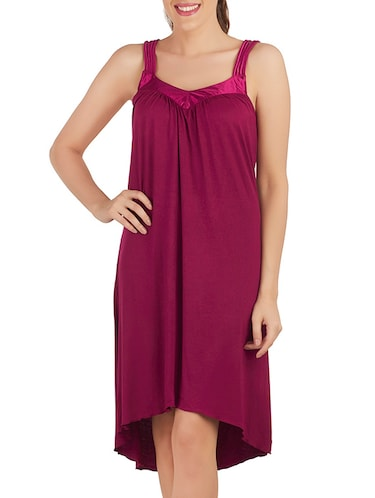 3708e4187e Buy Solid Pink Nighty by Prettysecrets - Online shopping for Sleepshirts    Nighties in India
