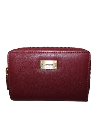 red leatherette wallet