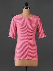 Pink Stripped Top - CHERYMOYA