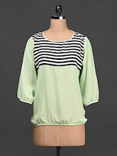 Stripes Printed Geogette Top - Stylechiks