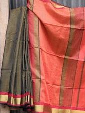 Grey Handwoven Cotton Silk Saree - NFTSSLTD