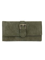 Green Textured Multiple Pocket Purse - Lino Perros