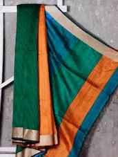 Multicolored Handwoven Jamdani Cotton Silk Saree - NFTSSLTD