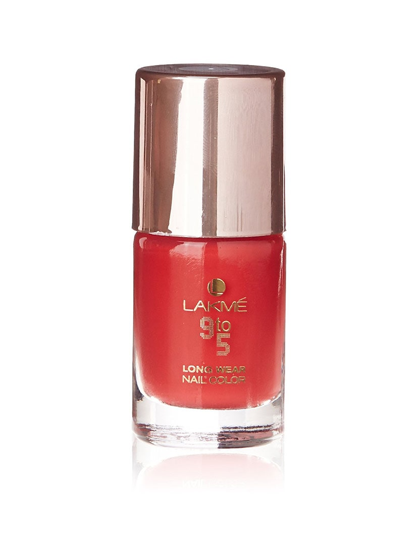 Buy Lakme 9 To 5 Long Wear Nail Color, Coral Cue, 9ml by Lakme ...