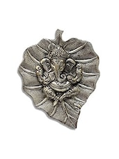 Metal Wall Hanging Of Lord Ganesha On Leaf Showpiece - By