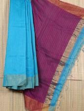 Handwoven Resham Zari Detailed Saree - Cotton Koleksi