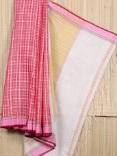 Handwoven Bengal Cotton Box Weave Saree - Cotton Koleksi