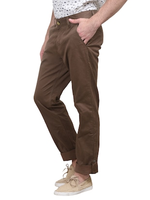 beige cotton trouser - 10736842 - Standard Image - 2