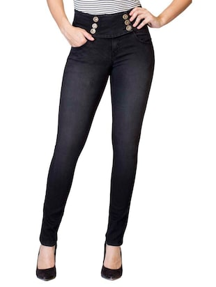 black cotton denim jeans & jeggings