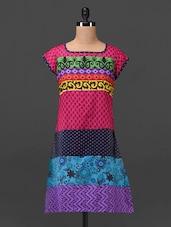 Multicolored Printed Cotton Kurti - MOTIF