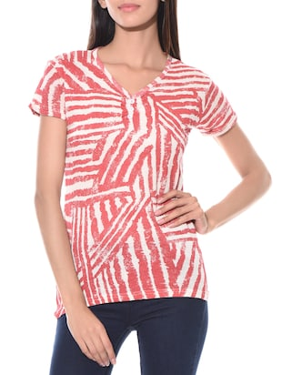 red 100% cotton top