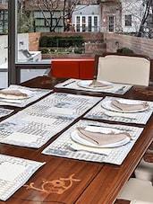 """Avira Home Abstract Table Mats & Table Runner Set- 6 Mats (13""""x19"""") & 1 Runner (13""""x39"""") - By"""