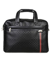 Black Textured Office Laptop Bag - Kara