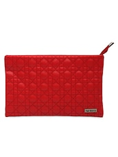 Red Faux Leather Sling Bag - Bern