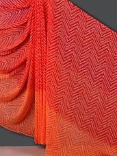 Chevron Print Georgette Saree - Nanda Silk Mills