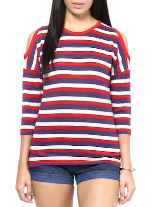 multi colored cotton regular top