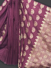 Traditional Dark Purple Art Silk Saree - Prabha Creations