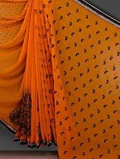 Polka Dot & Paisley Inspired Yellow Saree - Bunny Sarees