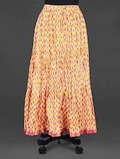 Floral Block Print Cotton Long Skirt - Indian Shoppe
