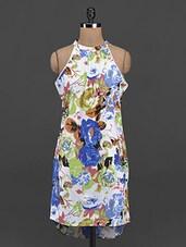 Arty Floral Printed Halter Neck Kurta - Yepme