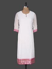 Gota Patti Embellished White Kurta With Dupatta - Naksh Jaipur