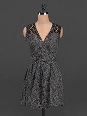 V-neck Backless Fit & Flare Dress - Sweet Lemon